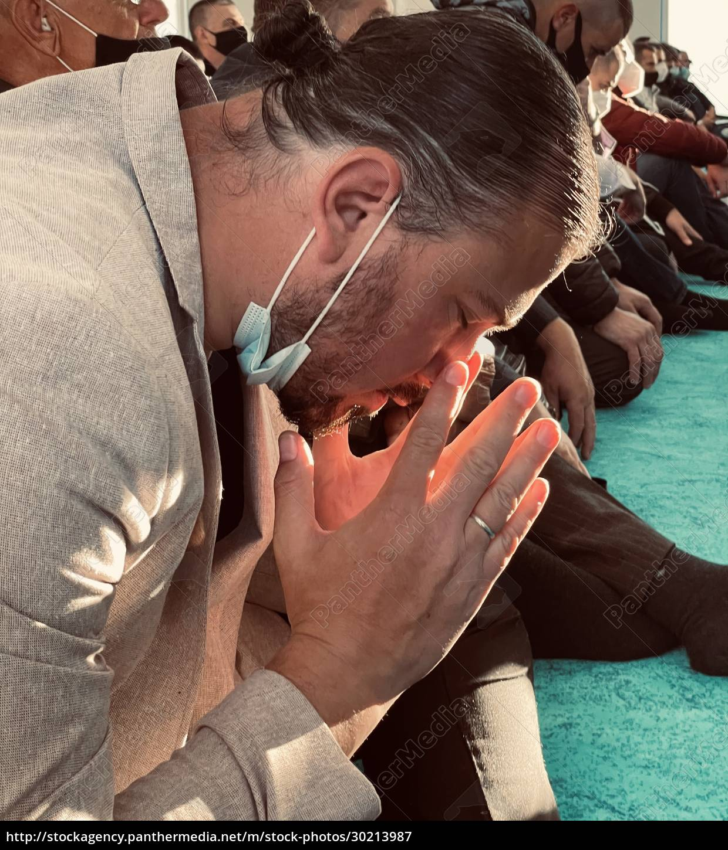 dark, tone, , muslim, man, praying, with - 30213987