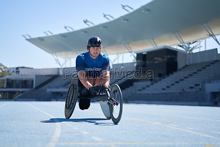 male, wheelchair, athlete, on, sunny, blue - 30218816