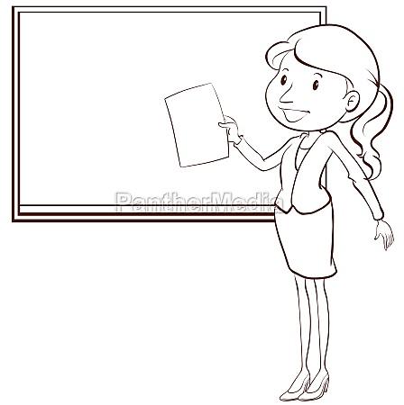 a, plain, sketch, of, a, teacher - 30234829