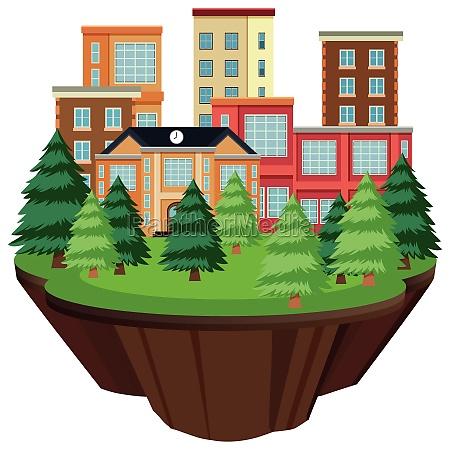 isolated, island, urban, building - 30240447