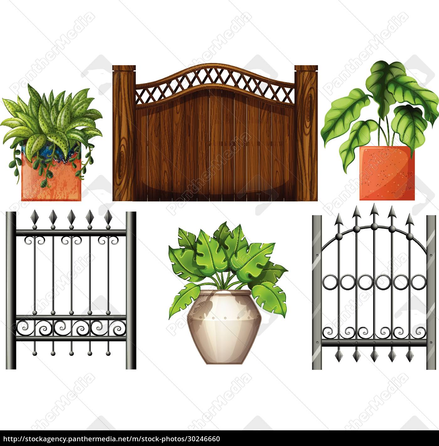 fences, and, plants - 30246660