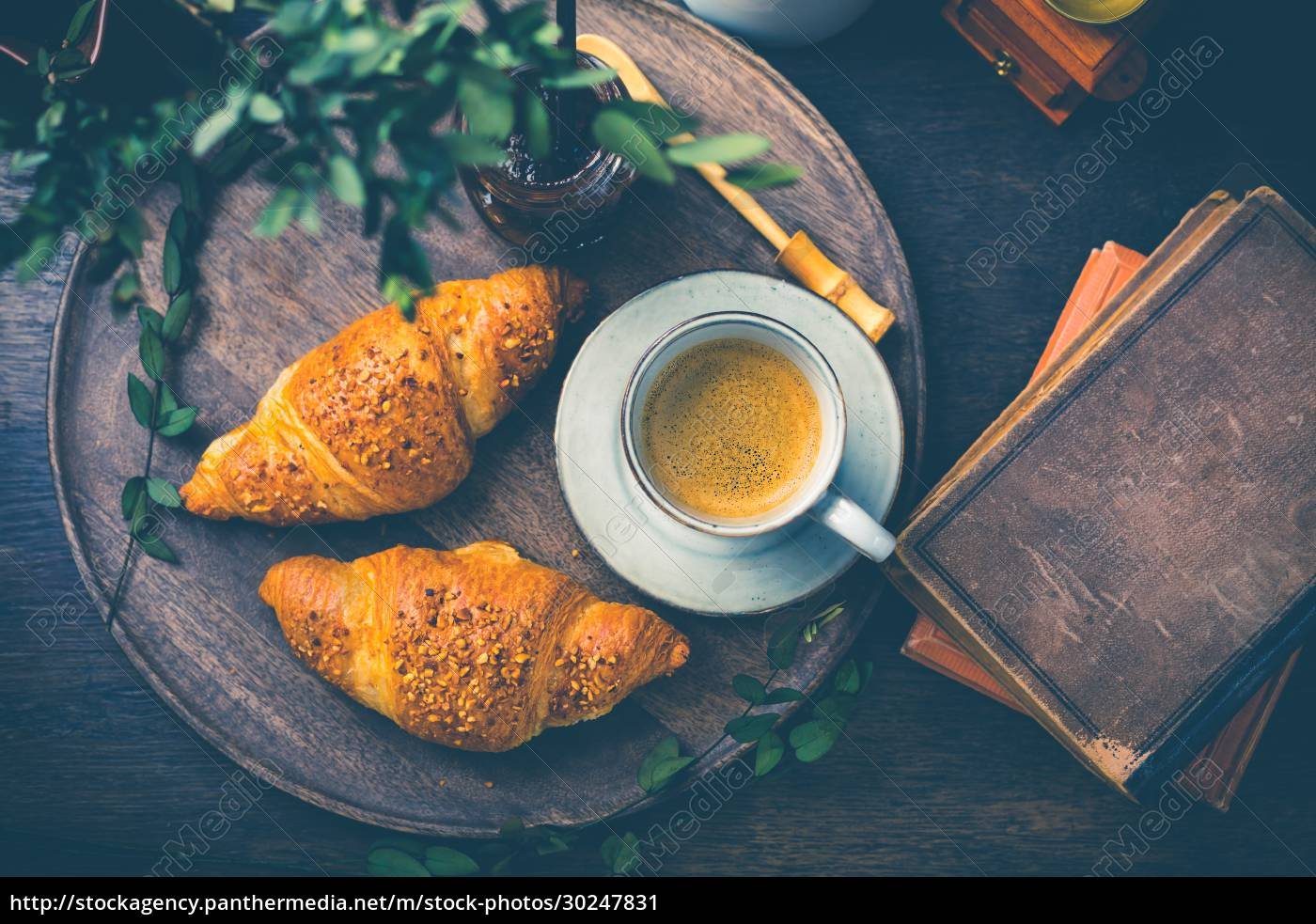 breakfast, -, croissants, with, nuts, and - 30247831