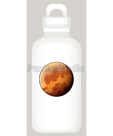 water, bottle, with, planet, graphic - 30254811