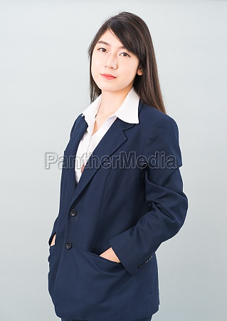portrait, of, asian, businesswoman, isolated, on - 30264733