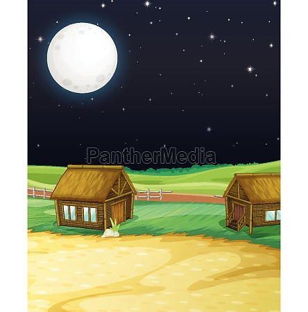 farm, scene, with, barn, and, mill - 30427865