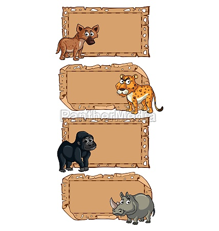 banner, template, with, wild, animals - 30513818