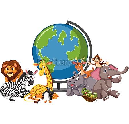 wild, animals, and, globe - 30522005