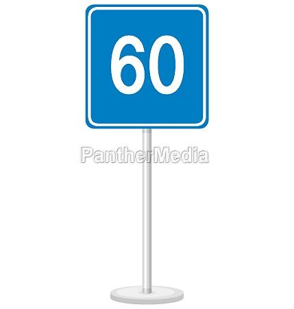 blue, minimum, speed, limit, 60, road - 30524561