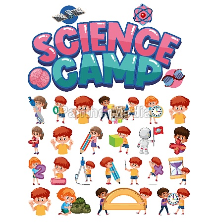 science, camp, logo, and, set, of - 30544858