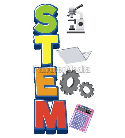 stem, logo, with, education, objects, isolated - 30549444