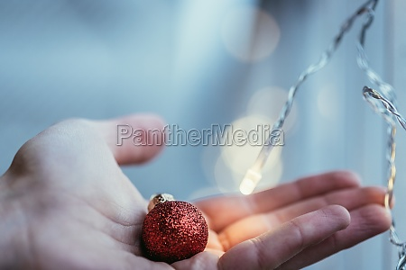 red, christmas, balls, with, decoration, on - 30556929