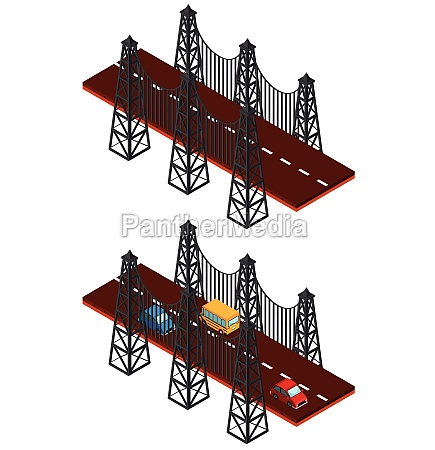 bridge, construction, with, and, without, cars - 30560297