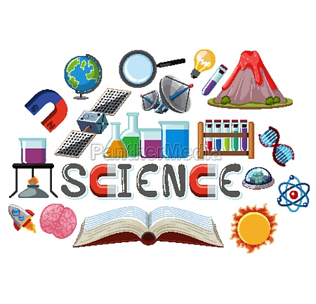 science, logo, with, science, education, objects - 30561375