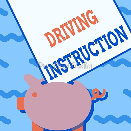 hand, writing, sign, driving, instruction., concept - 30585781