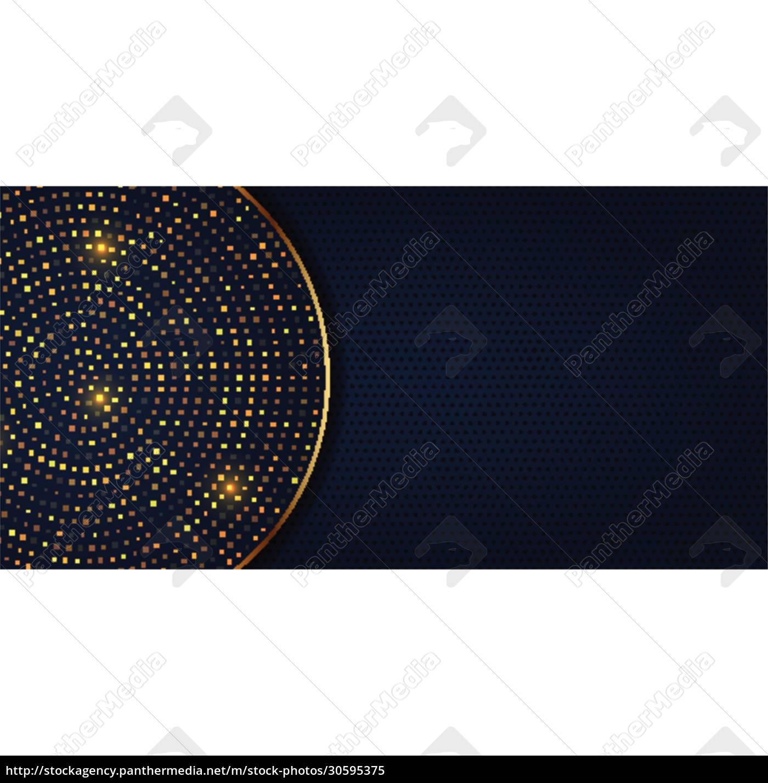 elegant, banner, design, with, golden, dots - 30595375