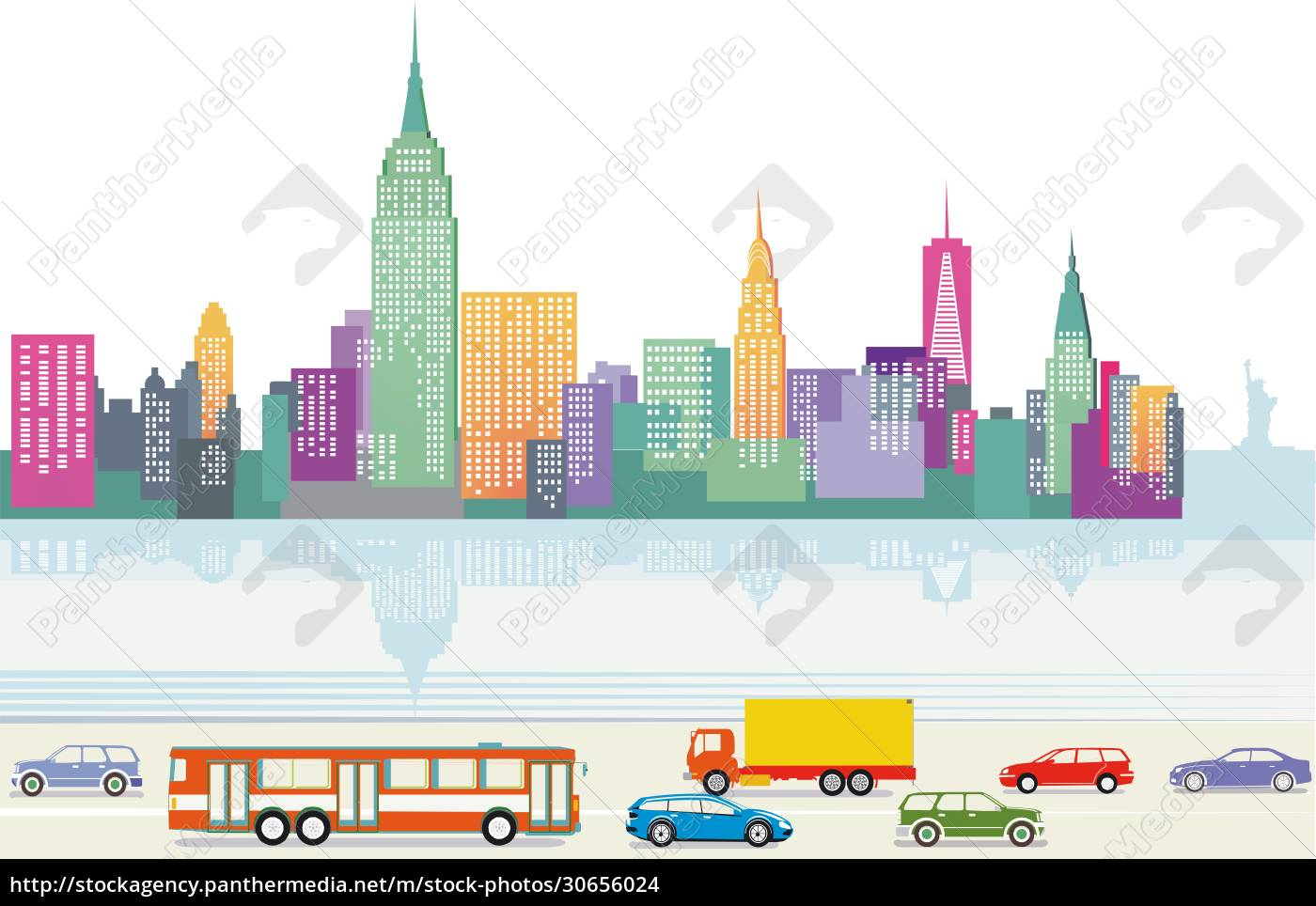 big, city, with, skyscrapers, with, road - 30656024