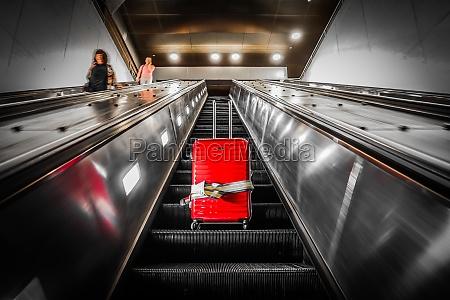 escalator, and, suitcase - 30682664