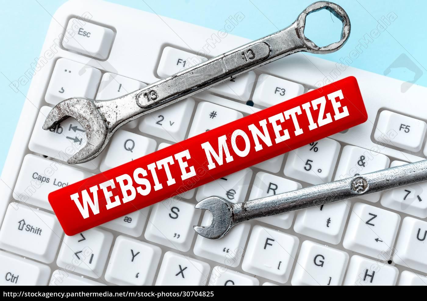 handwriting, text, website, monetize., business, concept - 30704825