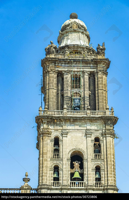 kathedrale, von, mexiko-stadt, architektonisches, meisterwerk, blauer - 30723806