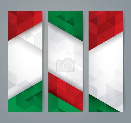 grün, Farbe, Rot, Dreieck, weiß, Vektor - B133256700