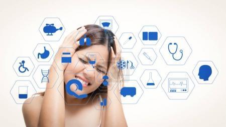 grafik weiblich erwachsene gesundheit medizin patient