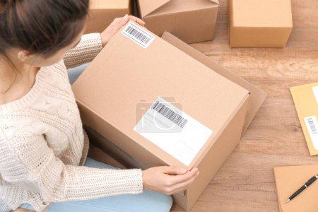 Hintergrund, Anzahl, Ansicht, Paket, Einzelhandel, Verkauf - B185291198