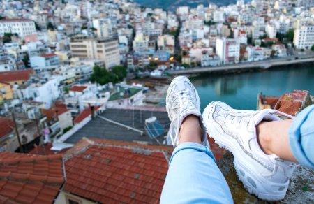 ansicht horizontale hoch reise sitzend freiheit