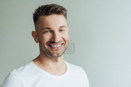 Hintergrund, isoliert, Glücklich, Lächelnd, Erwachsene, Glück - B377223484