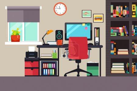 tisch vektor computer illustration raum unternehmen