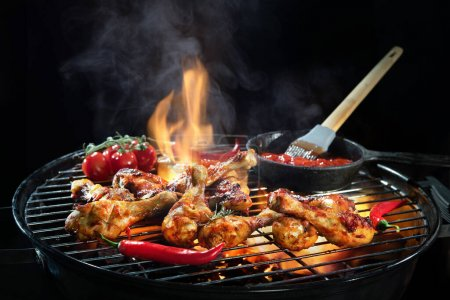 Hintergrund, Sommer, im Freien, Fleisch, Lebensmittel, Kochen - B369700092