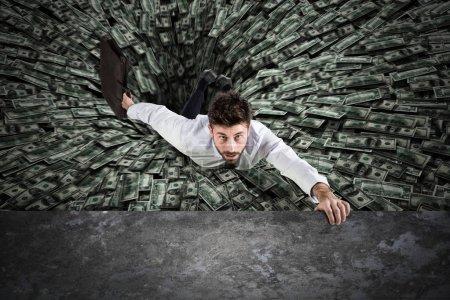 Geld, Unternehmen, Finanzen, Gefahr, Herbst, Mann - B149420954