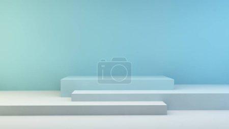 blau, Hintergrund, Grafik, Illustration, Design, Raum - B370785364