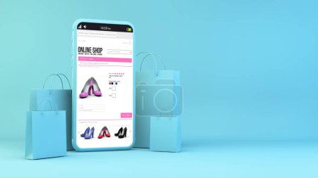 blau, Einkaufen, Feld, Paket, Verkauf, Kunde - B372522214
