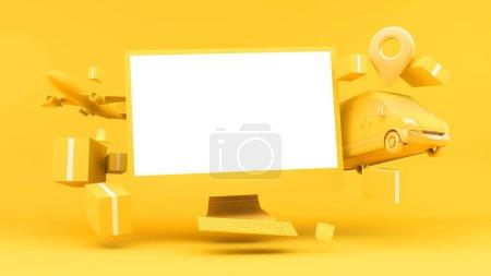 blau, Computer, Einkaufen, Feld, Paket, Verkauf - B372522278