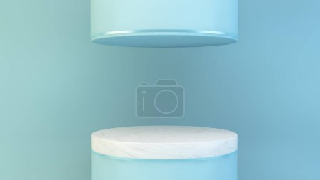 blau, Hintergrund, Grafik, Illustration, Design, Raum - B371776872
