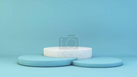 blau, Hintergrund, Grafik, Illustration, Design, Raum - B370785772