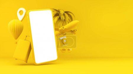 gelb, weiß, Objekt, Design, Tasche, Urlaub - B374867034