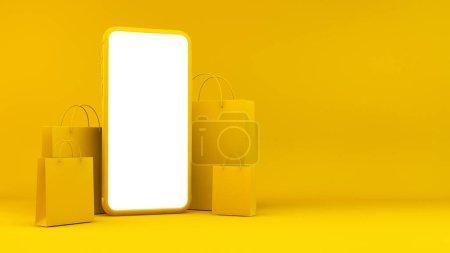 gelb, Einkaufen, Feld, Paket, Verkauf, Kunde - B372523074