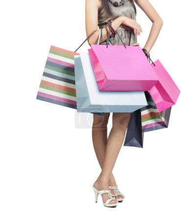 bunt einkaufen tasche geschenk isoliert schoen
