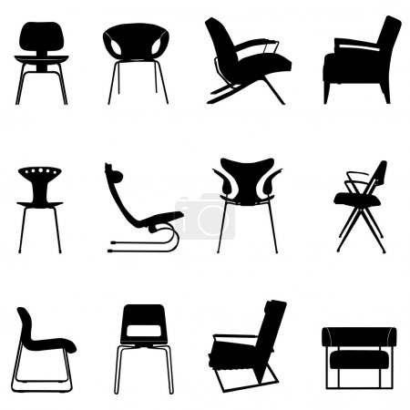 gruppe, Stühle, Vektor, hintergrund, einwendungen machen, grundbestandteil - B10438244
