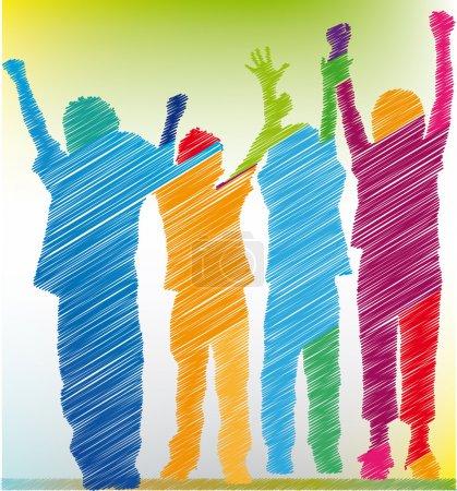 Spielen, Spaß, Konzern, weiß, Vektor, Hintergrund - B9468137