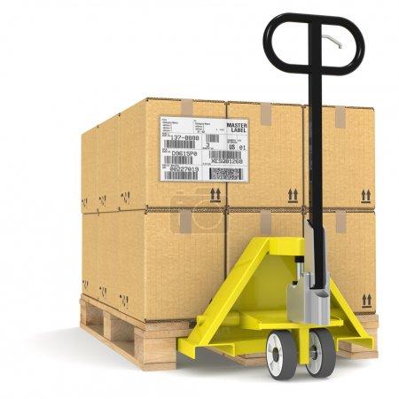 Feld, Paket, kommerziell, Etikett, Verkehr, Karton - B8534530