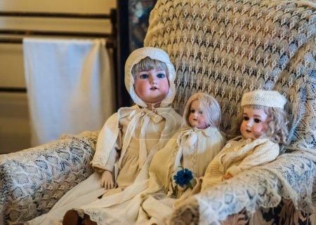 Mädchen, Antike, alt, Jahrgang, Spielzeug, schön - B32598483