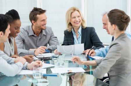 Konzern, mehrere, Schön, Glücklich, Unternehmen, Sitzen - B24462049