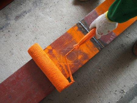 Farbe, Malerei, Metall, Menschen, Außenbereich, Kaukasisch - B13120941