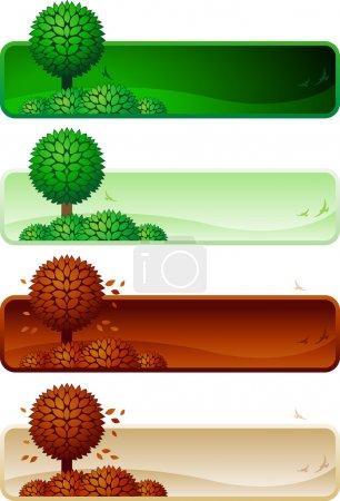 grün, Farbe, Bild, Vektor, Hintergrund, horizontale - B22812320