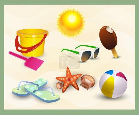 freizeit spass vektor ball illustration design