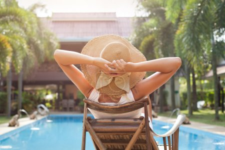 Schwimmbad, Freizeit, Aktivität, Stühle, auf, Luxus - B22356417