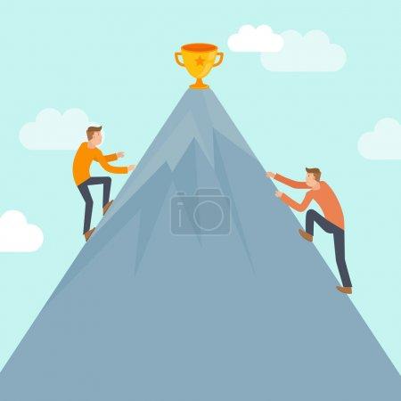 Wettbewerb, Vektor, Illustration, Unternehmen, Mensch, Erfolg - B50796275