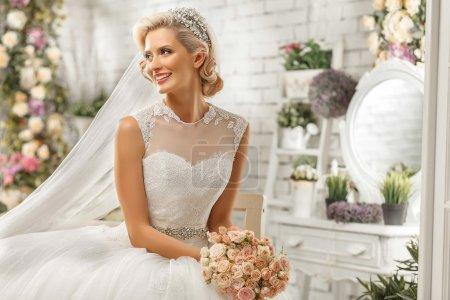 rot, weiß, Luxus, Hochzeitssuite, schöne, Dekoration - B50627023